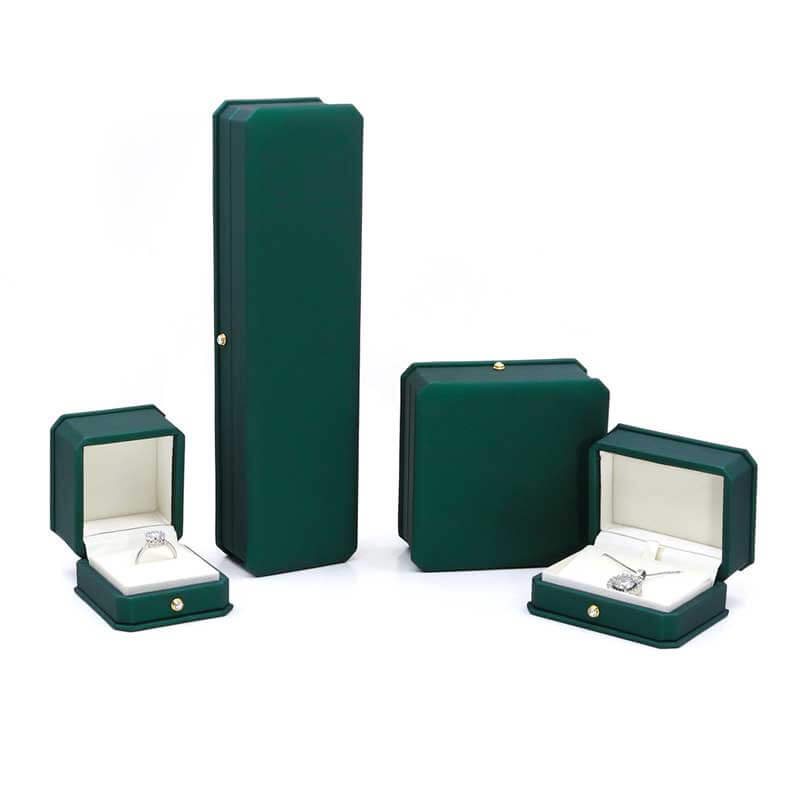 New Style Dark Green Leather Jewelry boxes-5