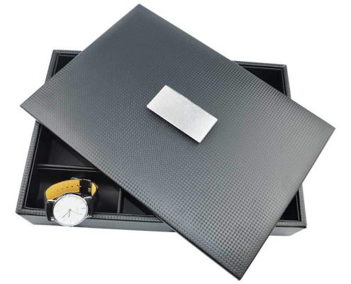 Leather Jewelry Collection Organizer Tray With Lid-11