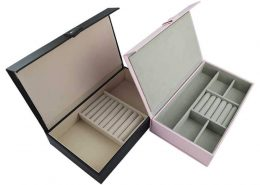 Leatherette Jewelry Organizer Storage Boxes-4