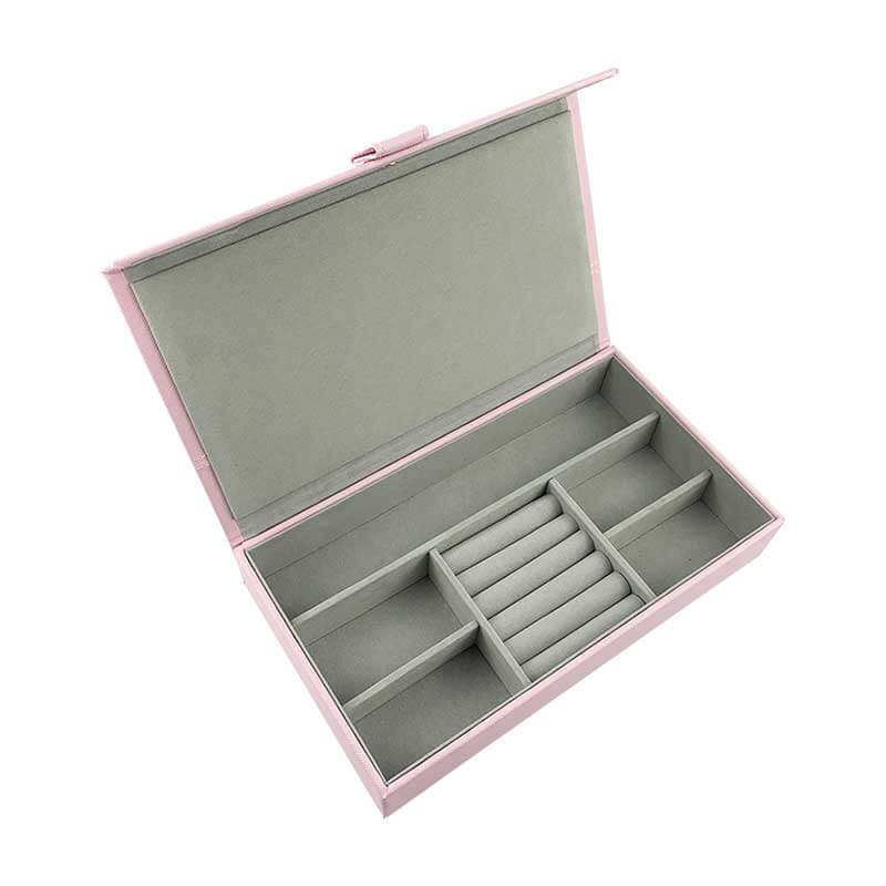 Leatherette Jewelry Organizer Storage Boxes-5
