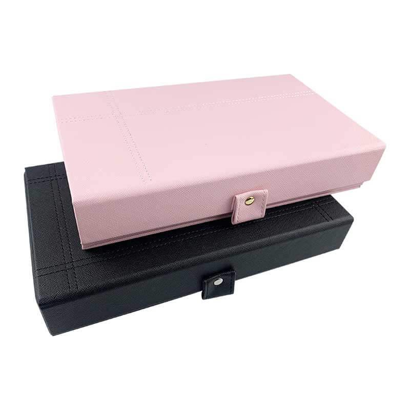 Leatherette Jewelry Organizer Storage Boxes-7