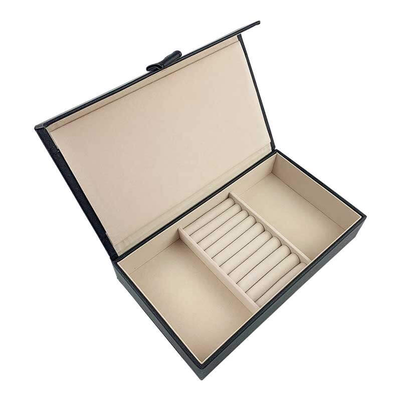 Leatherette Jewelry Organizer Storage Boxes-8