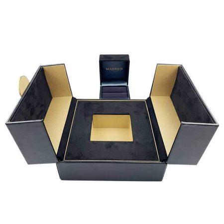 Luxury Leather Diamond Ring Boxes -6