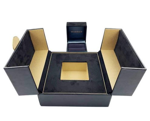 Luxury Leather Diamond Ring Boxes -6