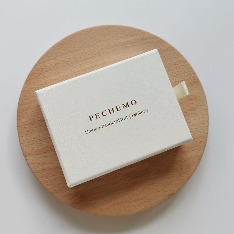 Jewelry Drawer Box with Microfiber Jewelry Pouch-2