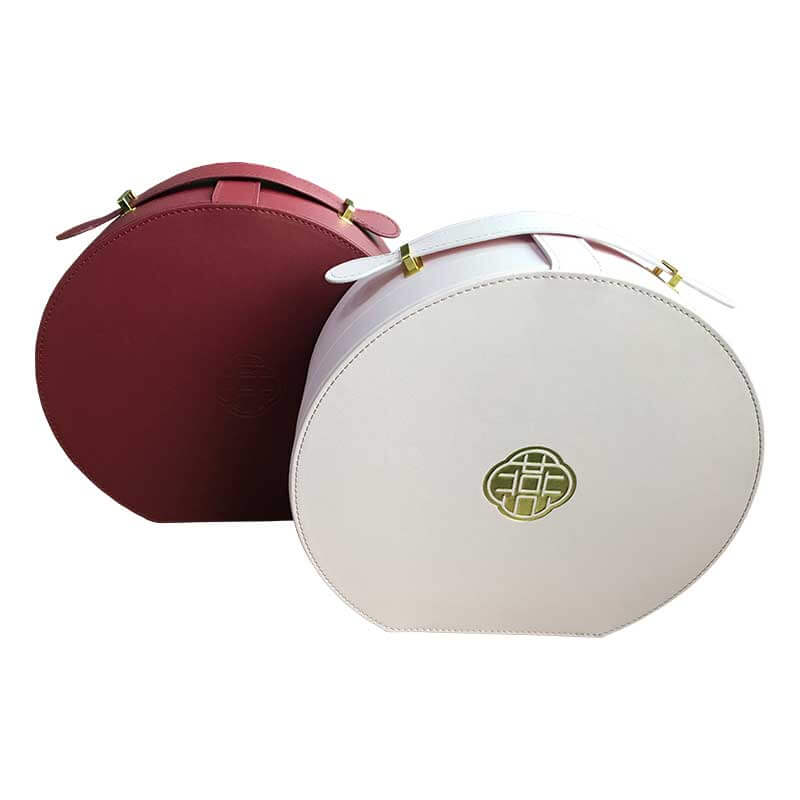 Portable Leatherette Round Shape Packaging Boxes-1