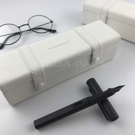 White PU Leather Pen Packaging Boxes -2