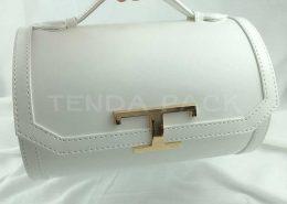 Cylindrical Shape Portable Leather Drawers Storage Box-3