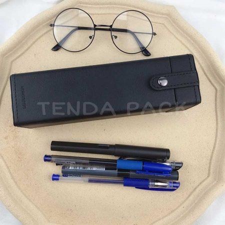 Leather Writing Case Pen Box Pen Organizer-1