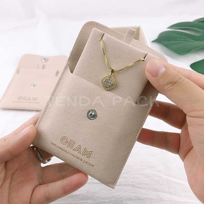 Microfiber Jewelry Pouches With Insert Pad-1