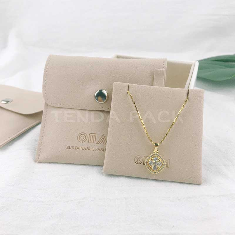 Microfiber Jewelry Pouches With Insert Pad-2