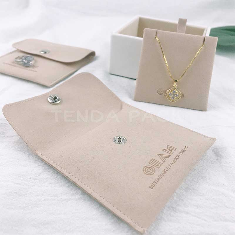 Microfiber Jewelry Pouches With Insert Pad-3