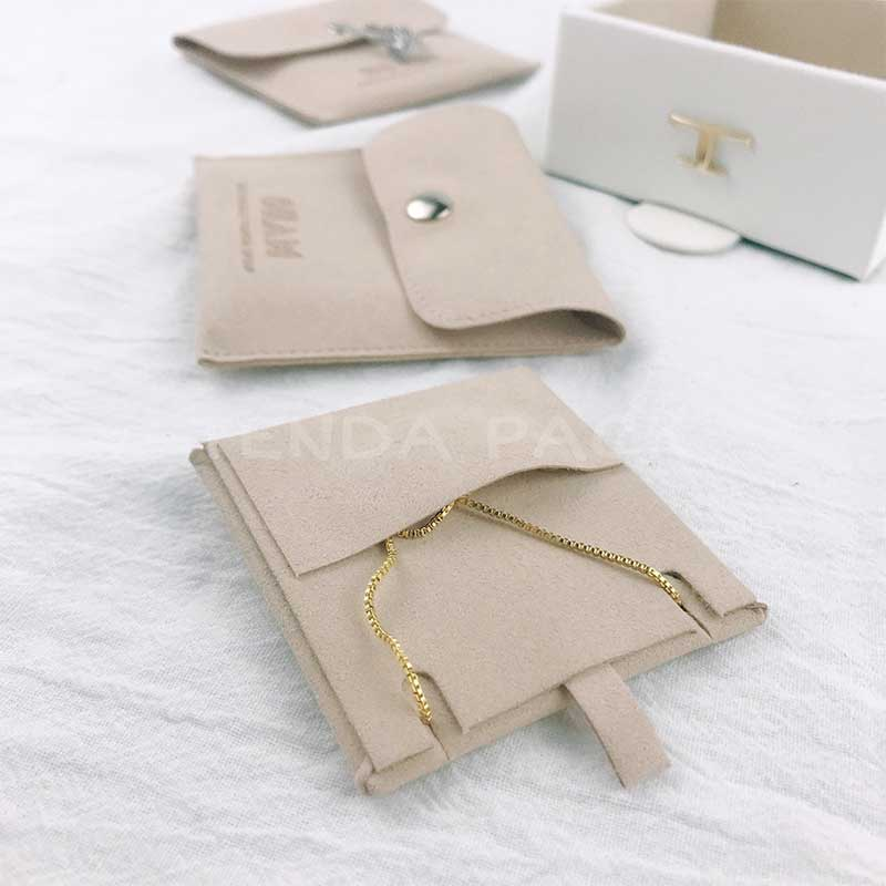 Microfiber Jewelry Pouches With Insert Pad-4