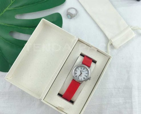 Economical Rigid Paper Watch Box With Pouch-3