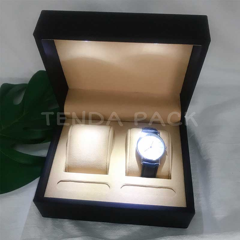 Luxury LED light watch box for Couples Watches-1