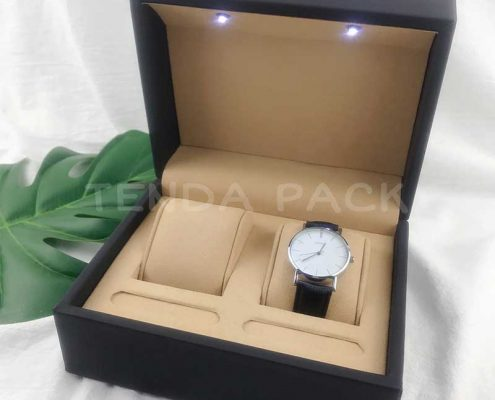 Luxury LED light watch box for Couples Watches-2