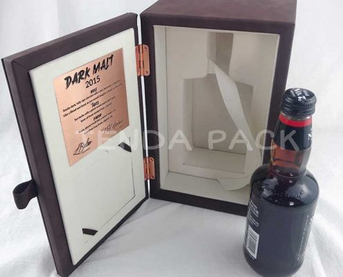 Luxury PU Leather Wine and Spirits Packaging Boxes -1