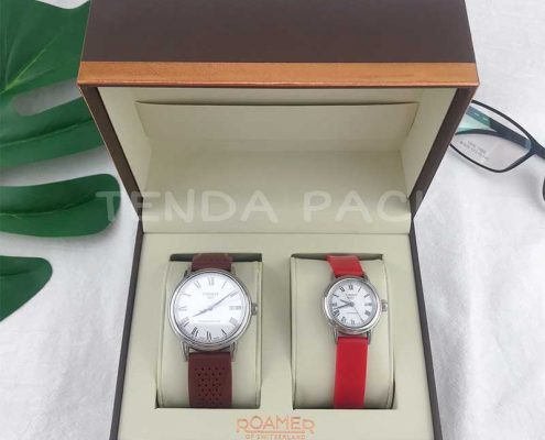 Fancy Watch Packaging Boxes With 2 Cushions-6