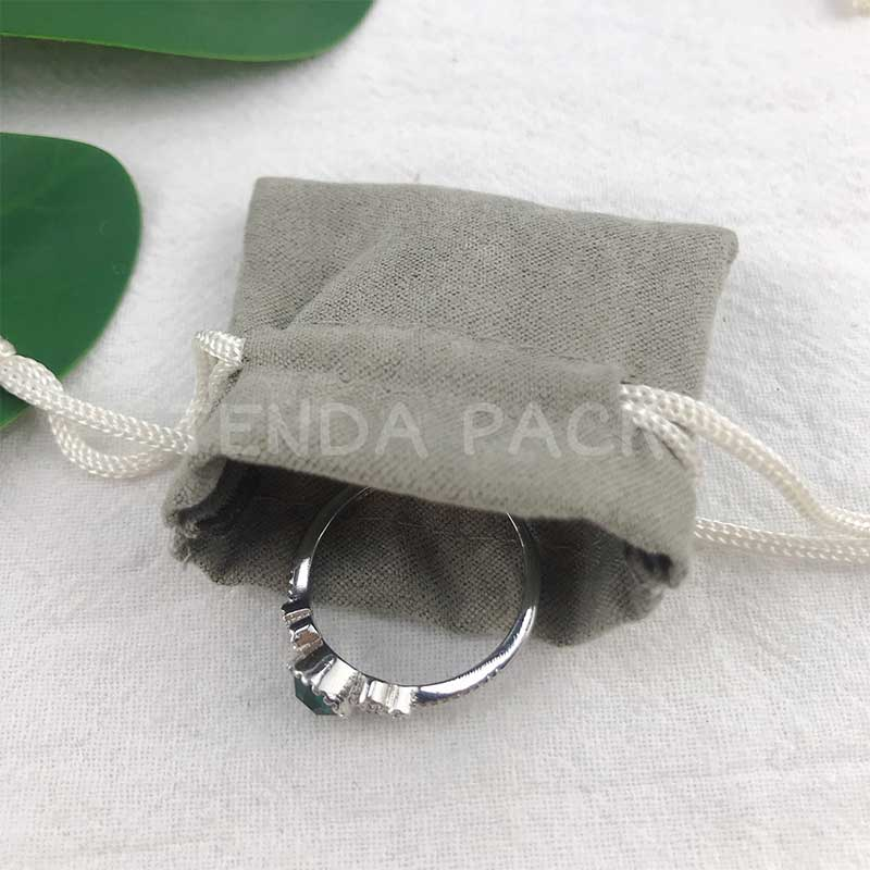 Mini Suede Jewelry Pouches With Drawstring Closure-2