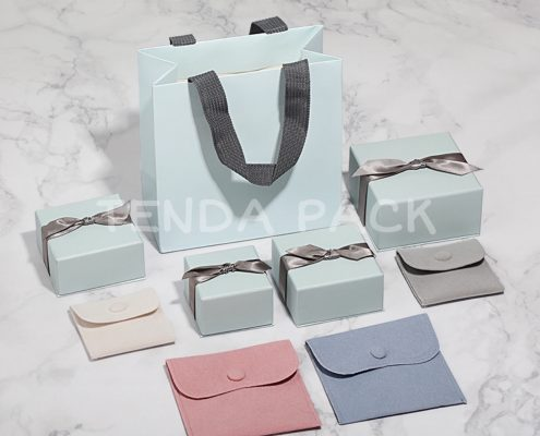 Paper Jewelry Gift Box With Ribbon Bowknot Deco-6