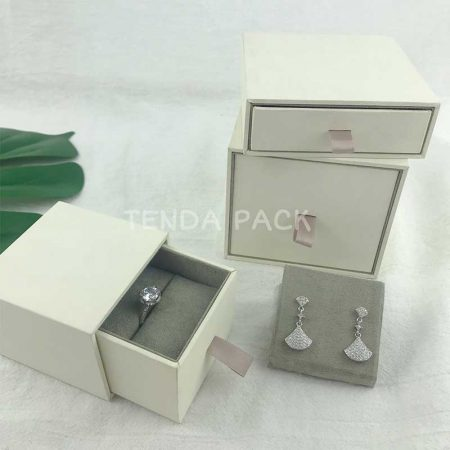 Rigid Paper Drawer Jewelry Boxes-4